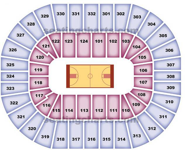 New Orleans Hornets Seating Chart for New Orleans Arena
